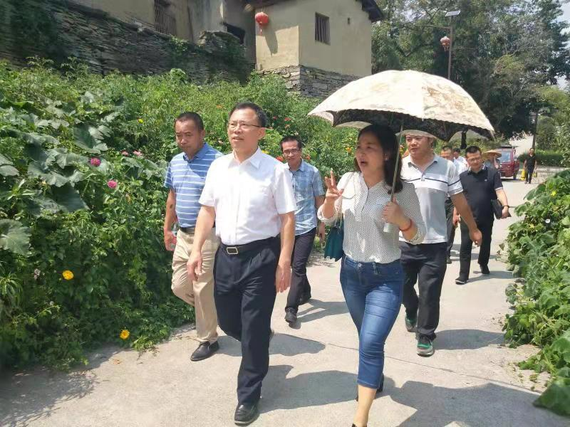 省文化和旅游厅厅长陈献春在竹山村调研扶贫工作