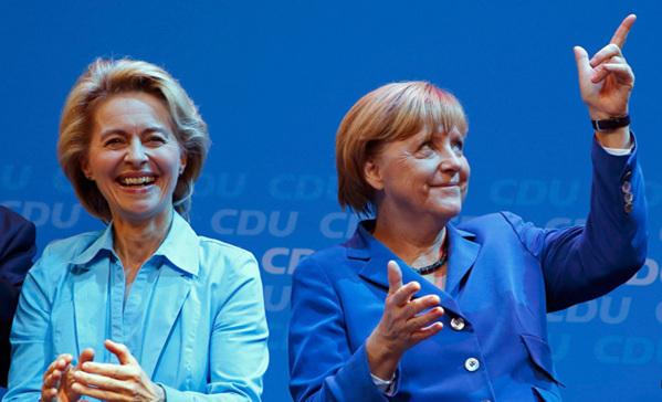 默克尔 德国第一位女总理 德国女总理